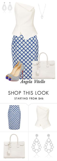 """Untitled #753"" by angela-vitello ❤ liked on Polyvore featuring Jonathan Saunders, Roland Mouret, Yves Saint Laurent, Tiffany & Co. and Christian Louboutin"