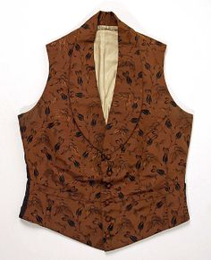 Vest  Date: 1830–40 Culture: American or European Medium: silk