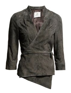 Suede is such a beautiful material and I love the wrap jacket and its collar.