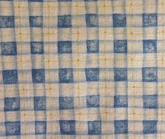 """Fabric Traditions Gingham Plaid Fabric~Blue, Yellow, Creamy White~112"""" x 45"""" #FabricTraditions"""