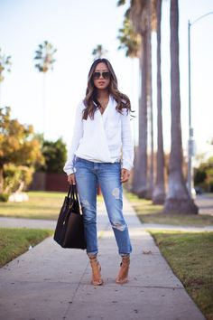 White Shirt and Blue Jeans - Song of Style