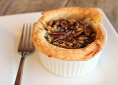 Rustic Ramekin Pecan Pies with Bourbon