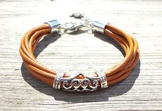 "Henna Leather Bangle Bracelet - 7 3/4"", leather jewelry, leather bracelet, boho chic. $22.00, via Etsy."