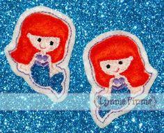 feltie Mermaids for bows or hair clips