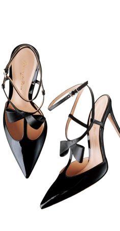 Gianvito Rossi 2016 Black Patent Tuxedo Pumps | @ shoes 1