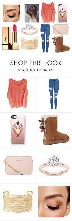 """School Day"" by ehorton1 ❤ liked on Polyvore featuring Topshop, Casetify, UGG, MICHAEL Michael Kors, Charlotte Russe, Avon and Yves Saint Laurent"