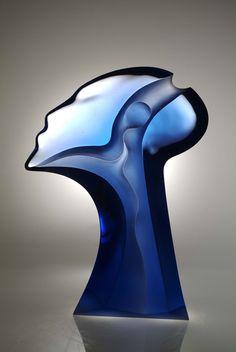 """Dream"" by Latchezar Boyadjiev Height: 35"" Width: 26"" Depth: 6"" Diameter: Cast glass $31250"