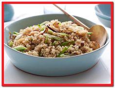 Quinoa With Shiitakes and Snow Peas Recipe. just discovered Quinoa. Pea Recipes, Side Dish Recipes, Cooking Recipes, Healthy Recipes, Healthy Meals, Healthy Food, Juice Recipes, Skinny Recipes, Chili Recipes