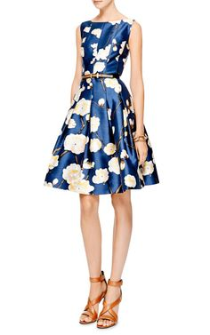Floral-Print Silk-Blend Dress by Oscar de la Renta - Moda Operandi