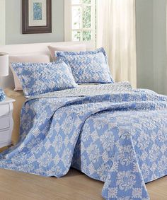 Look what I found on #zulily! Blue & Violet Serena Printed Quilt & Sham Set by Duke Imports, Inc. #zulilyfinds