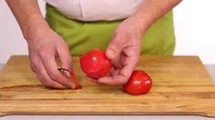 Instructievideo - Tomaat ontvellen en snijden