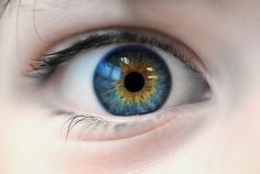 I discovered recently that I have central heterochromia (more than one color in the iris). This is similar to what mine look like. I always say hazel but mine are more blue. Beautiful Eyes Color, Stunning Eyes, Pretty Eyes, Cool Eyes, Gray Eyes, Yellow Eyes, Blue Eyes, Heterochromia Eyes, Celaena Sardothien