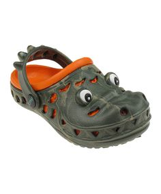 Look at this Green & Orange Creature Clog on #zulily today!