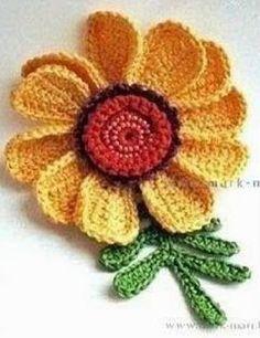 Tecendo Artes em Crochet: Três Flores Lindas e com Receita!