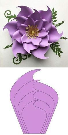 Giant Paper Flower Templates and Ideas, Paper Flower Patterns, Paper Flowers Craft, Paper Flower Wall, Paper Flower Tutorial, Flower Crafts, Diy Flowers, Fabric Flowers, Decorative Paper Crafts, Fleurs Diy