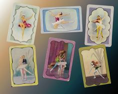 A Set Of 6 1950 s Swap Cards Featuring Dance Blank backs $36.00