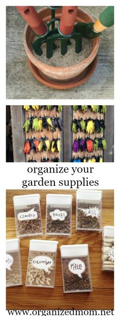 Ready to organize your garden supplies!!  This is a must for yard organization if you don't want to re-purchase supplies every season!
