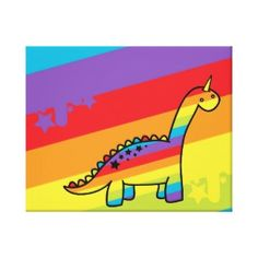 Rainbow dinosaur I Smile, Make Me Smile, Nursery, Rainbow, Canvas, How To Make, Rain Bow, Tela, Baby Room