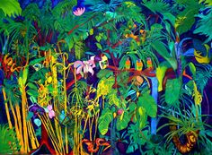 """© Claire Elek """"The Jungle"""" oil on canvas 97"""" x 72"""" Feel free to pin..only"""
