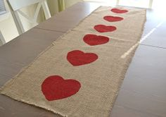 Shabby Sweet Tea: Valentine's Table Runner