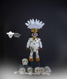 Mictlantecuhtli Señor del mictlán' o 'señor del lugar de los muertos.. Lord of the death for mexicas Playmobil custom