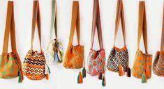 Bolsos tejidos por la tribu de los Wayúu.