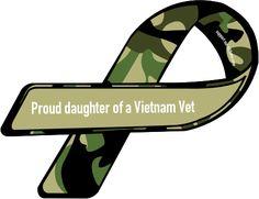 Custom Ribbon: Proud daughter of a Vietnam Vet