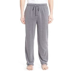 Polo Ralph Lauren Pique Knit Pajama Pants ($45) ❤ liked on Polyvore featuring men's fashion, men's clothing, men's sleepwear, black royal oxford and polo ralph lauren mens clothing