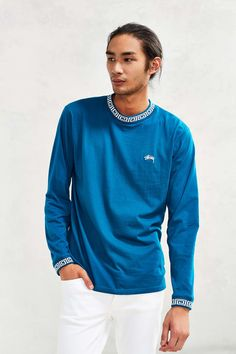 Stussy Spiral Collar Long-Sleeve Tee - Urban Outfitters