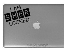 Sherlock Holmes I am sher locked Vinyl Decal window laptop sticker