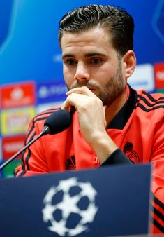 Nacho Fernandez of Real Madrid attends a press conference at Doosan Arena on November 2018 in Plzen, Czech Republic. Get premium, high resolution news photos at Getty Images Nachos, Nacho Fernandez, Iglesias, Soccer Players, Czech Republic, Real Madrid, Ninja, Conference, Turtle