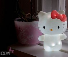 DIY Hello Kitty lamp with a HK shaped shower gel bottle - I will be doing this soon because we actually have one of these bottles!