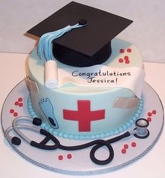 Chic nursing graduation cakes pictures. I want a cake like this when i graduate