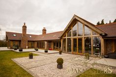 Galleries for Oak Framed Houses and Oak Framed Extensions - Oakmasters Barn Conversion Exterior, Barn House Conversion, Bungalow Conversion, Barn Conversions, Garden Room Extensions, House Extensions, Modern Staircase, Staircase Design, Spiral Staircases