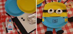 Minion hecho con un plato desechable #manualidades