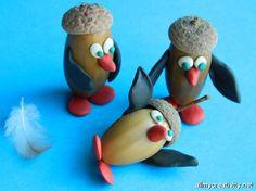 penguins acorns plasticine