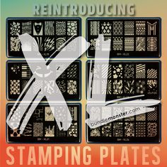 Are you ready for our #XLStampingPlates? These supersized plates are sure to satisfy your nail stamping cravings! #NailStamping #ShopBM #biggerisbetter
