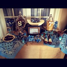 "Cute! But blue just isn't the right color! Cowboy baby shower ""sweets table"""
