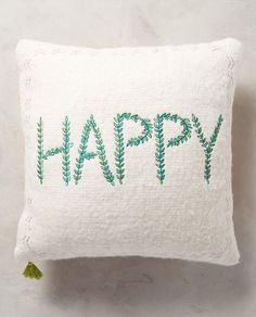 stitched happy pillow http://rstyle.me/n/ssakmr9te