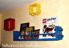 Lego Shelves for the boys room!! I'm totally making these.