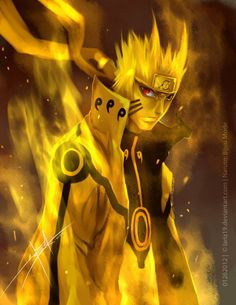naruto.   Sage mode made naruto relevant, kyuubi mastery made him a god...