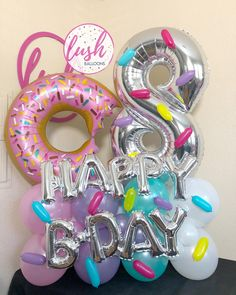 🍩🍩Donut Grow Up🍩🍩 . . To place an order visit our website www.lushballoons.com or text/call 916.995.4301 with questions🥳 now delivering within the Greater Sacramento areas. 🎈 . . . . . . . #sacramentoballoons #balloons #quarantinebirthday #birthdaygiftideas  #teenagerbirthday #uniquegifts #balloons 🎈 #balloonbouquet #supportsmallnusiness  #sacramentoproud #orderballoons #donut #donuts🍩 #donutsofinstagram #donutgrowup #donutparty #donutpartydecor #donutlover  #ballooncompany #shoplocal #s Order Balloons, Up Balloons, Confetti Balloons, Donut Birthday Parties, Donut Party, Birthday Balloon Decorations, Birthday Balloons, Ballon Diy, Balloon Company