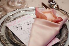 #coral wedding tables ... #wedding #menu cards