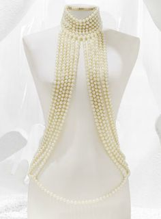 Chanel Harness with Glass Pearls.