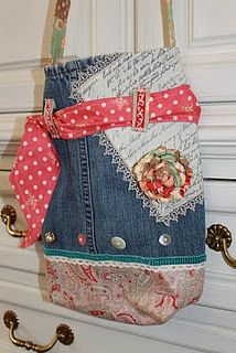 Crafts, Sewing, Patterns: Shabby Jean Purse/Scripture case