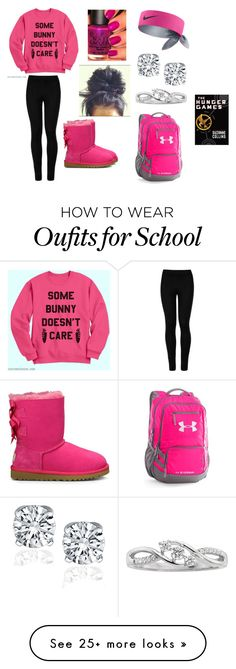 """""""School"""" by tealzebra36 on Polyvore featuring Wolford, UGG Australia, OPI, NIKE and Under Armour"""