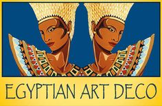 The Egyptian Twins by Tara Hutton. A new take on one of my oldest paintings titled Nefertiti and Night. I photographed and reversed the image to create the Egyptian Twins and used the papyrus font for the wording. The colors used are those of ancient Egypt, gold, lapis blue and turquoise. #TheEgyptianTwins #TaraHutton #EgyptianArtDeco #EgyptianRevival #ArtPrint #FineArtAmerica #Pixels.com