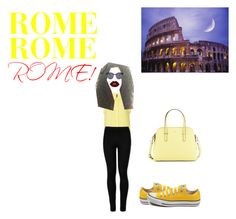 """A Day in.....ROME!"" by ermy9 ❤ liked on Polyvore featuring Wolford, Converse, Kate Spade, Lime Crime and Quay"