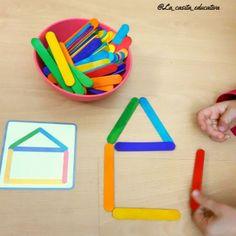 ACTIVIDAD CON DEPRESORES DE COLORES Preschool Learning Activities, Infant Activities, Preschool Activities, Kids Learning, Math For Kids, Games For Kids, Crafts For Kids, Montessori Toddler, Kids Education
