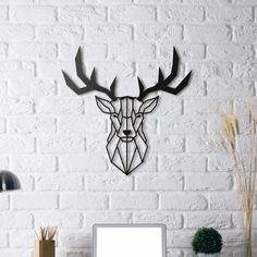Deer Wall Sculpture II by UnpredictableLab - Thingiverse Geometric Deer, Geometric Artwork, Metal Wall Decor, Metal Wall Art, Cerf Design, Deer Stand Plans, Deer Stands, Deer Wall Art, Wall Décor